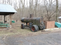 Old steam engine.
