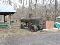 Old steam engine.