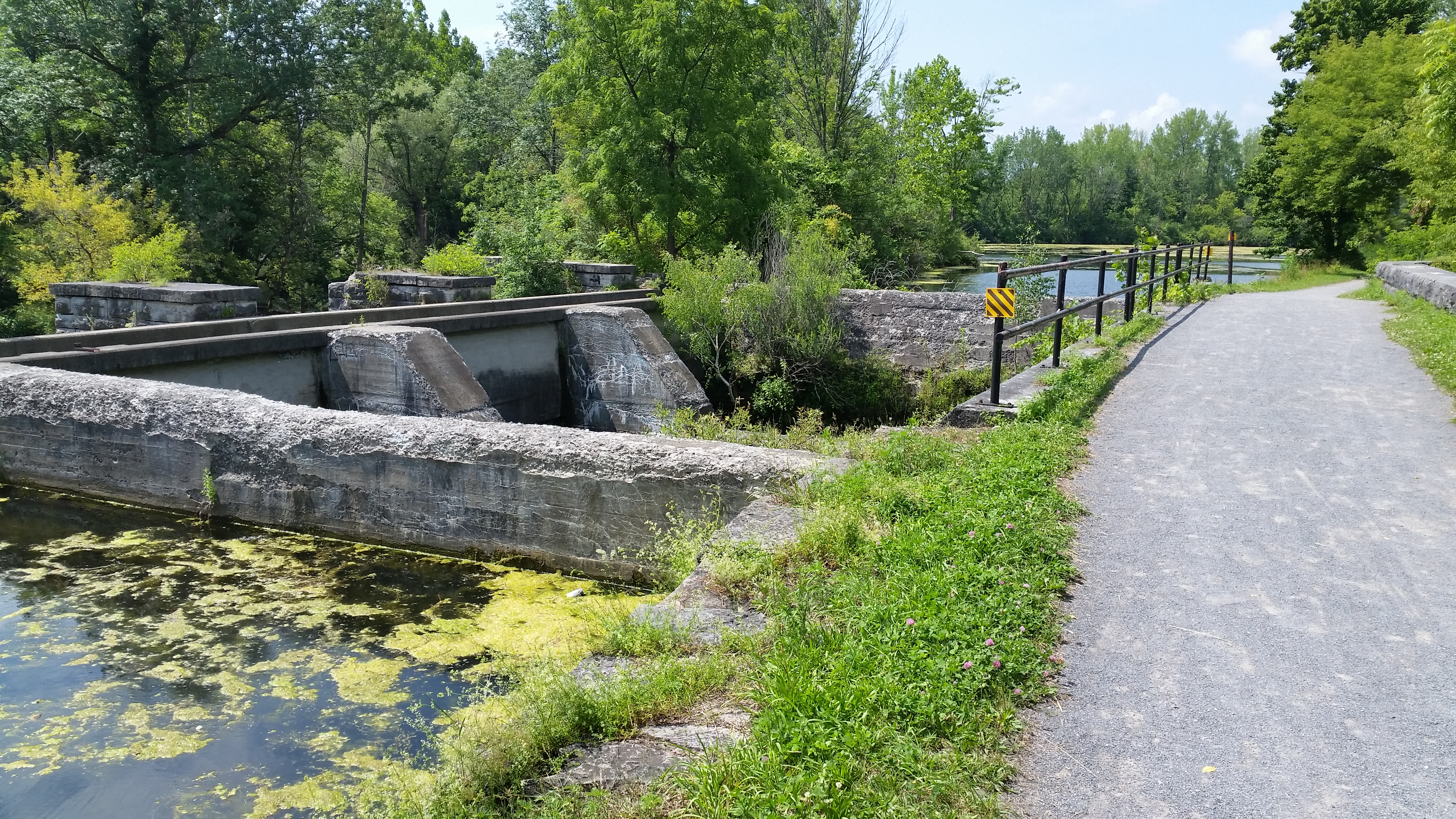 Ruins of the old lock system