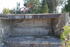 Mountain biking at Wehle, on top of one of the old pillboxes.