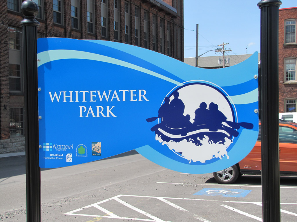 White Water Park Signage