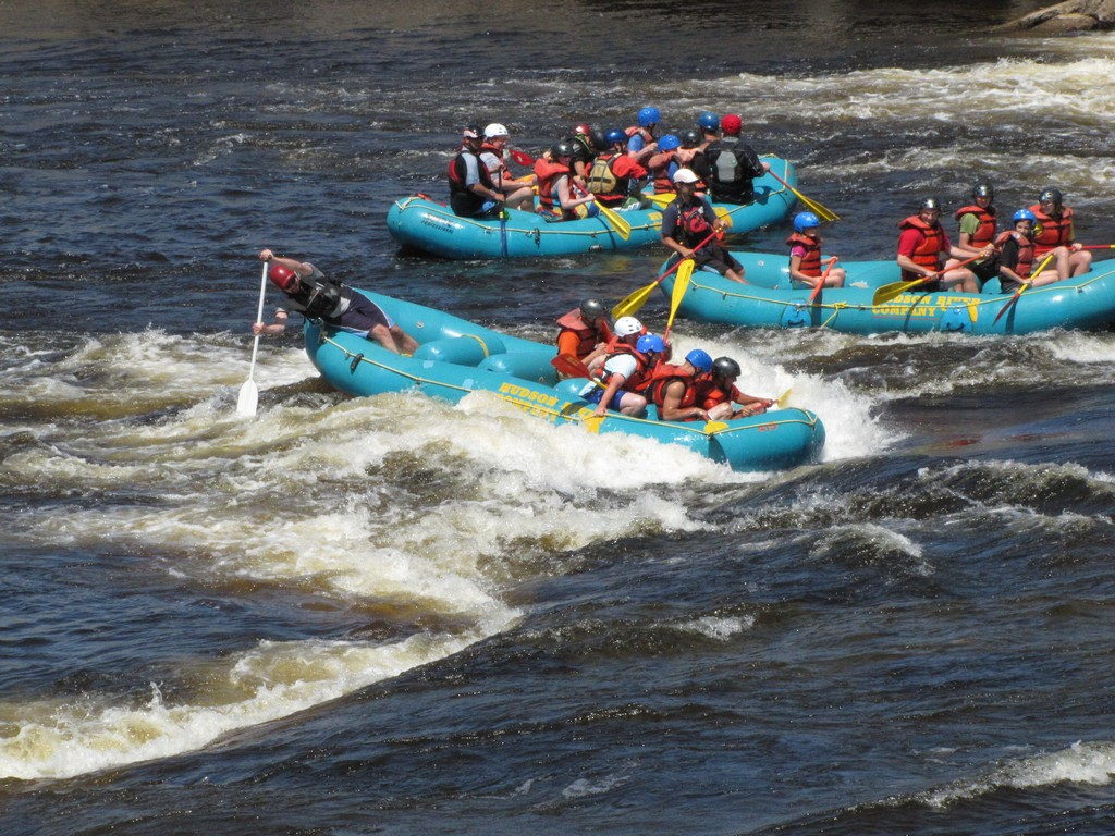Whitewater boating as seen from trail - Copyright (©) 1996-2013 Marc EM All Rights Reserved